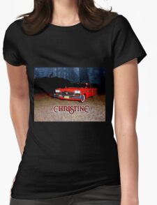 Christine - from the mind of horror writer stephen King Womens Fitted T-Shirt