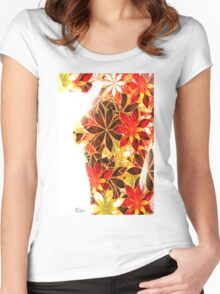 Flower Lady by Mary Bassett Women's Fitted Scoop T-Shirt