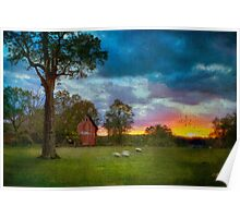 Sunset Over The Farm 2 Poster