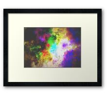Rainbow Storm Cloud Framed Print