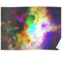 Rainbow Storm Cloud Poster