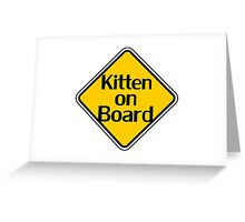 Baby Kitten On Board - Cat Sticker Greeting Card