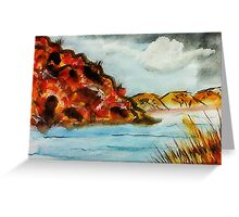 A nice place to go rafting, watercolor Greeting Card