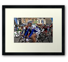 Start of the Tour of Britain in Peebles, Scotland Framed Print