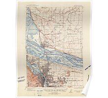 USGS Topo Map Oregon Portland 282801 1905 62500 Poster