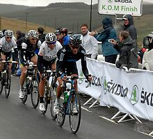 King of The Mountain Peloton ,  at the Devil's Beef Tub near Peebles, First Stage of The Tour of Britain 2011   by rosie320d