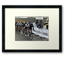 King of The Mountain Peloton ,  at the Devil's Beef Tub near Peebles, First Stage of The Tour of Britain 2011   Framed Print