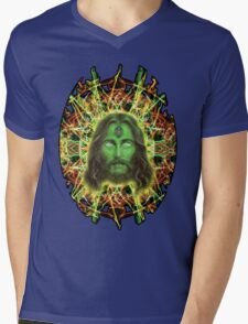 Psychedelic Jesus Mens V-Neck T-Shirt