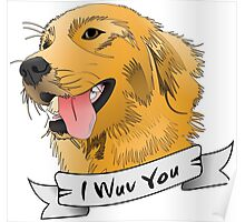 I WUV YOU Poster