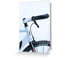 Omnium track bike in fixie street mode Greeting Card