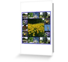 The Garden of the Lord - Floral Collage Greeting Card