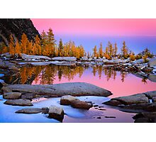 Pink Gnome Tarn Photographic Print