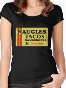 Naugles Tacos Retro T-Shirt Women's Fitted Scoop T-Shirt