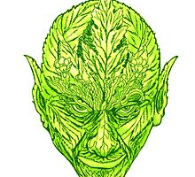 green man goblin by redqueenself