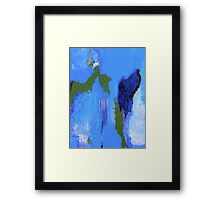 Blue to Blue Abstract Framed Print