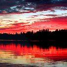 9-7-11 Lake Ozonia Sunset by Brian Pelkey