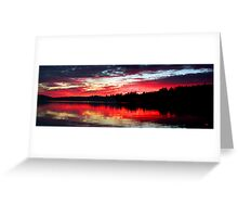 9-7-11 Lake Ozonia Sunset Greeting Card