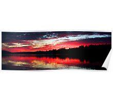 9-7-11 Lake Ozonia Sunset Poster