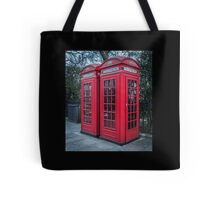 Classic London Telephone Booths Tote Bag