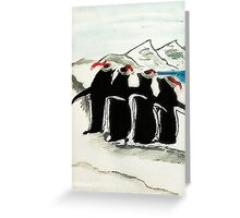 Holiday Penguin, watercolor Greeting Card