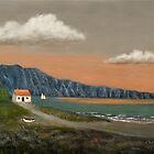 Seaside Cottage by Gordon  Beck