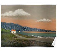 Seaside Cottage Poster