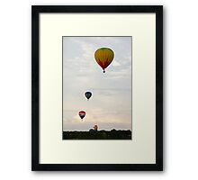 Hot air balloon flight 4 Framed Print