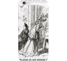 Suffragette Sisters Punch cartoon 1908 iPhone Case/Skin