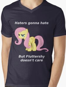 Haters gonna hate, Fluttershy doesn't care Mens V-Neck T-Shirt