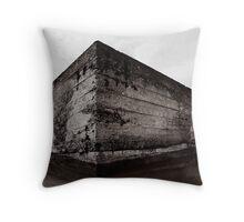 Bunker (B&W) Throw Pillow