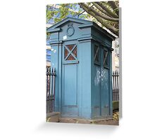 Old Fasioned Police Box Greeting Card