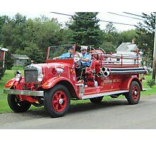 1929 Buffalo fire engine, Farnham Fire Department Photographic Print