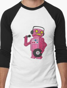 hey robot dj Men's Baseball ¾ T-Shirt