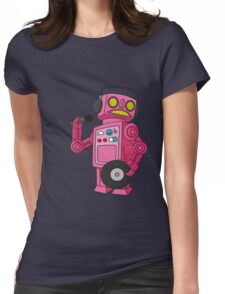 hey robot dj Womens Fitted T-Shirt
