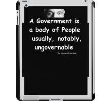 The Rv Book Govt  REverse iPad Case/Skin