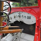 Ladder and dashboard, 1929 Buffalo fire engine by Ray Vaughan
