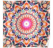 Colorful Flower Abstract Poster