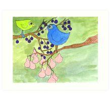 Birds in Question Art Print