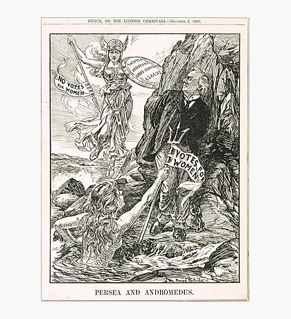 Votes for Women Punch cartoon 1908 Photographic Print