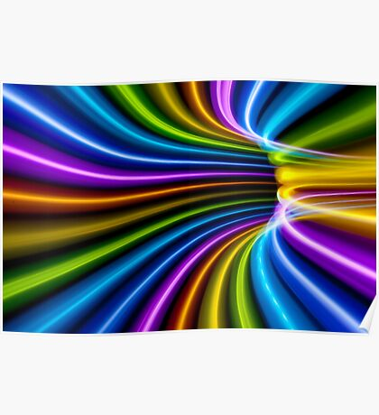 Rainbow Tunnel Bend Poster