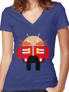 Dr. Droidbotnik Women's Fitted V-Neck T-Shirt