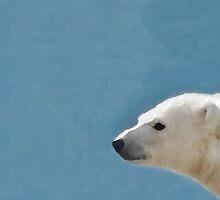 White Polar Bear by thelazypigeon