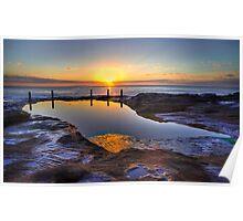 Sunrise Ivo Rowe Pool Coogee Sydney Poster