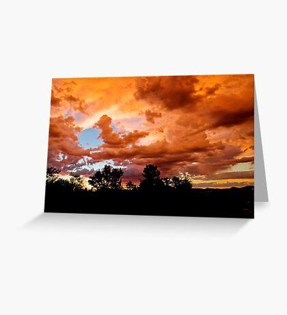 Prescott Arizona Sunset Greeting Card