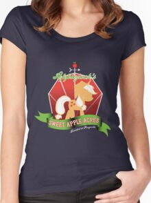 Applejack's Sweet Apple Acres Women's Fitted Scoop T-Shirt