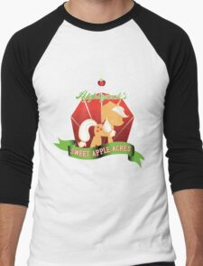 Applejack's Sweet Apple Acres Men's Baseball ¾ T-Shirt