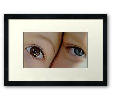 sister eyes Framed Print