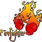 fire fighter by Jonnymoonstone
