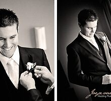 Josh getting ready for his beautiful bride Emaly by idphotography