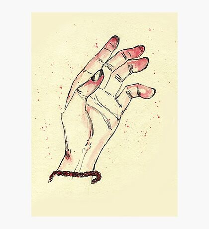 Hand Photographic Print